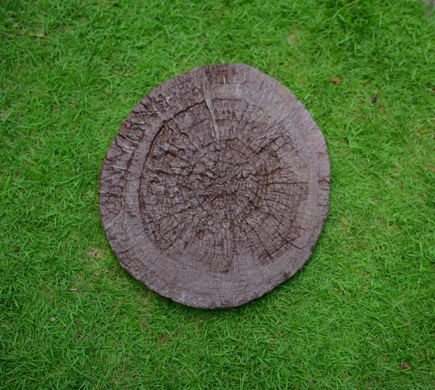 Concrete Tree Trunk Stepping Stone